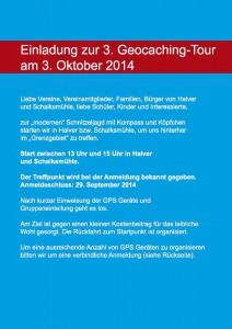 3. Geocaching Tour 2014