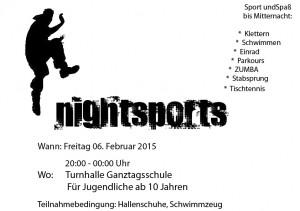 Nightsports, Freitag, 6. Februar 20:00 - 00:00